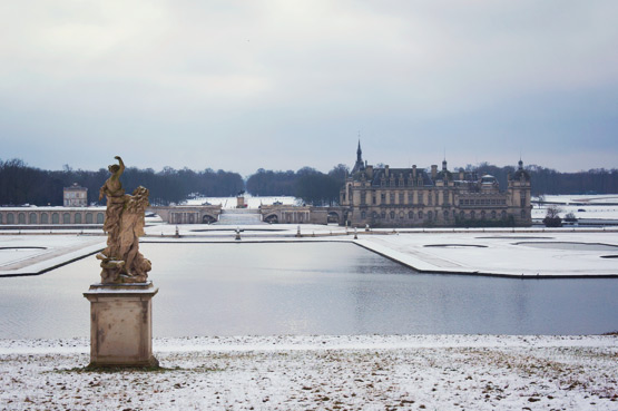 JOELIX.com | Chantilly castle in the snow