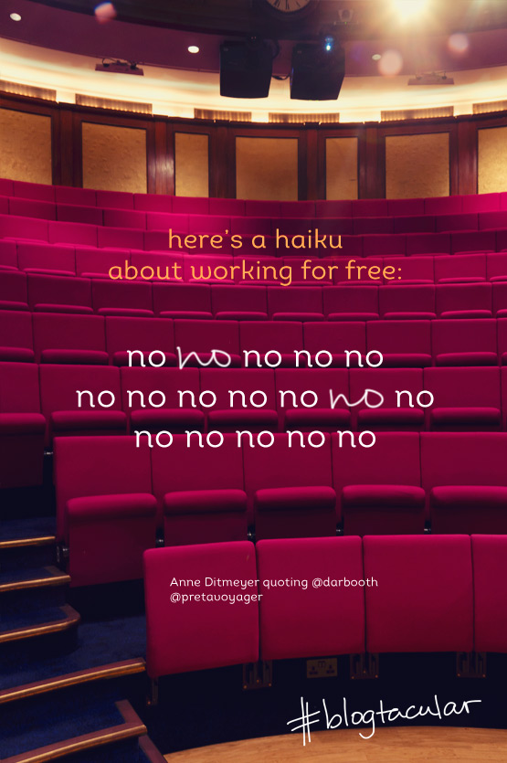 JOELIX.com | Blogtacular highlights - a haiku about working for free no no no no no by Pretavoyager