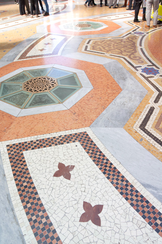 JOELIX.com | Colorful mosaic tiles at the Galleria Vittorio Emanuele II in Milan, Italy