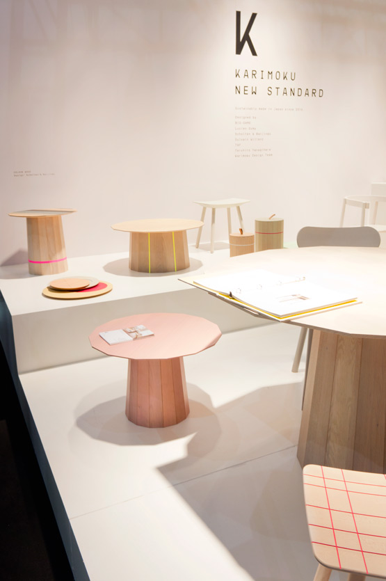 JOELIX.com | Maison et Objet Paris wooden furniture design in wood plywood Karimoku New Standard