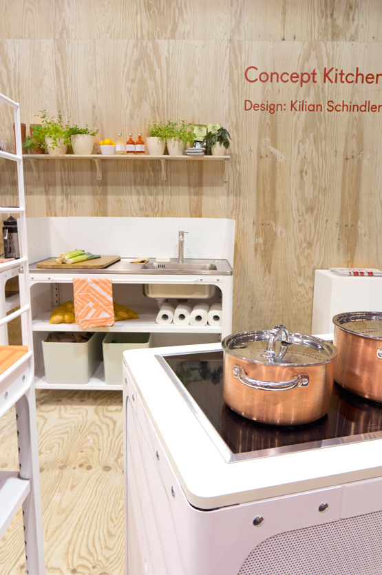 JOELIX.com | Maison et Objet Paris wooden furniture design in wood plywood Concept Kitchen Naber