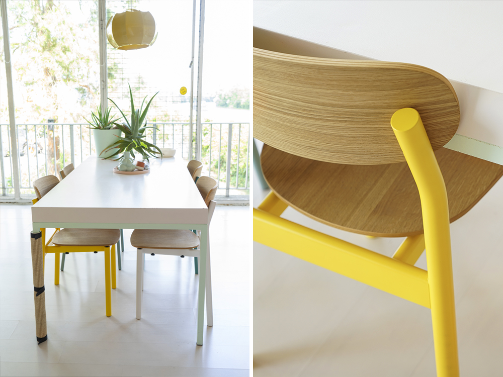 JOELIX.com | Mycs Pryme dining chairs mix and match #yellow #mycs #diningchairs