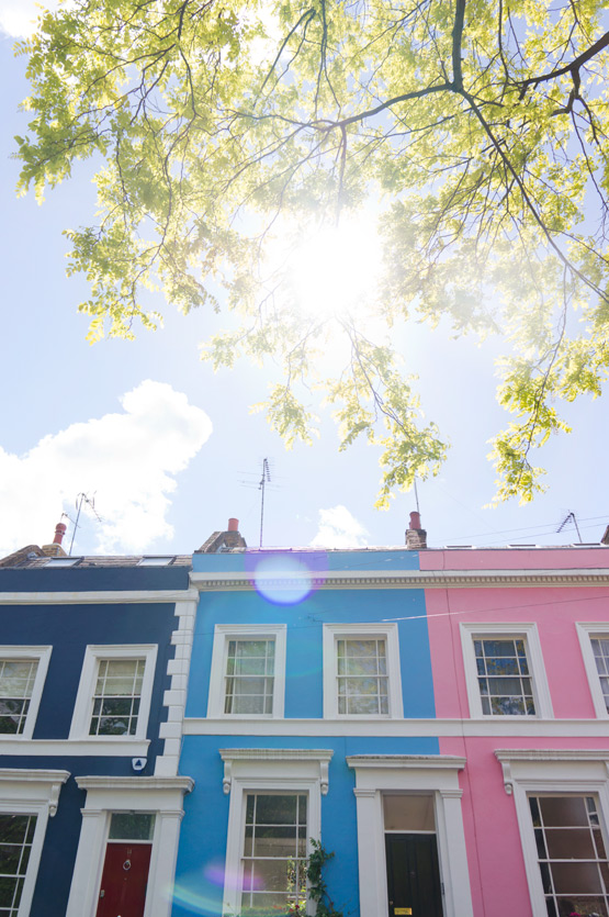 JOELIX.com | Notting Hill London pink and blue house facade
