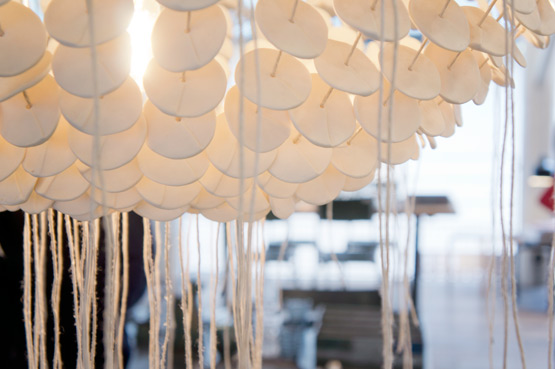 JOELIX.com | Spring at Merci Paris shop white shell chandelier