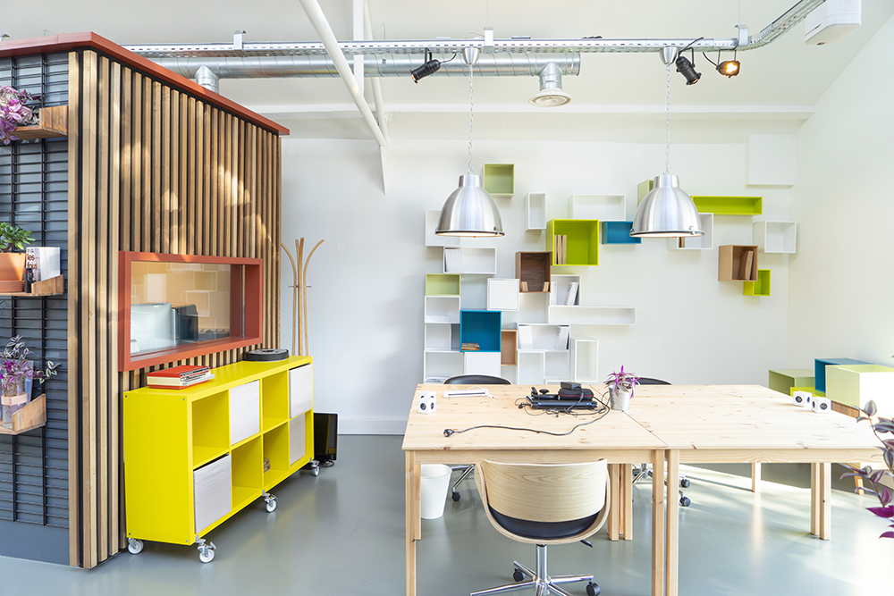 JOELIX.com | Time Work Space co-working audio studio Paris #coworking #colorful #interior #paris