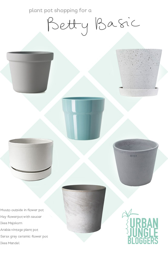 JOELIX.com | Plant pot shopping for a Betty Basic #urbanjunglebloggers hay muuto ikea serax arabia