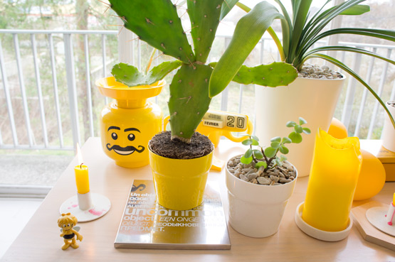 JOELIX.com | Urban Junge Bloggers 1 plant / 3 stylings #urbanjunglebloggers #urbanjungle yellow livingroom