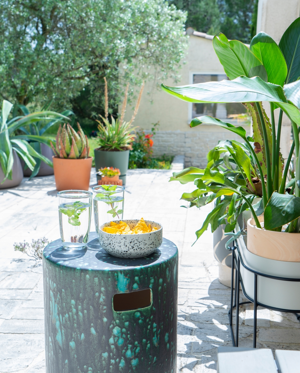 JOELIX.com | Indoor plants go outside, green terrace with MADE.com